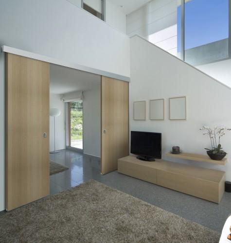 puertas correderas madera garaje ue puertas enfrentadas de madera